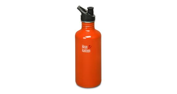 Klean Kanteen Classic Trinkflasche mit Sport Cap 1182ml flame orange